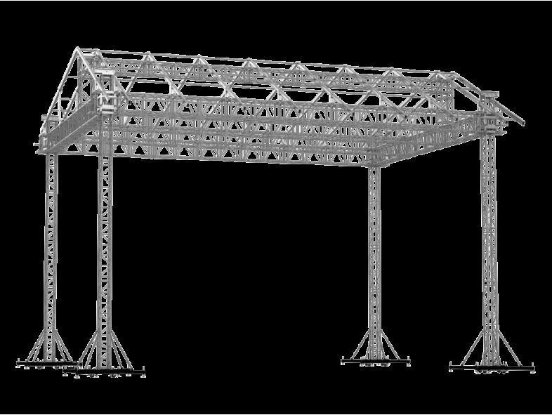 TAF Truss Aluminium | ROOF 14x10x9 KD | Roofs