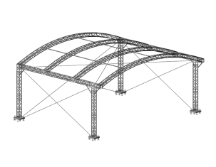 TAF Truss Aluminium | ROOF 10x8x4 | Roofs