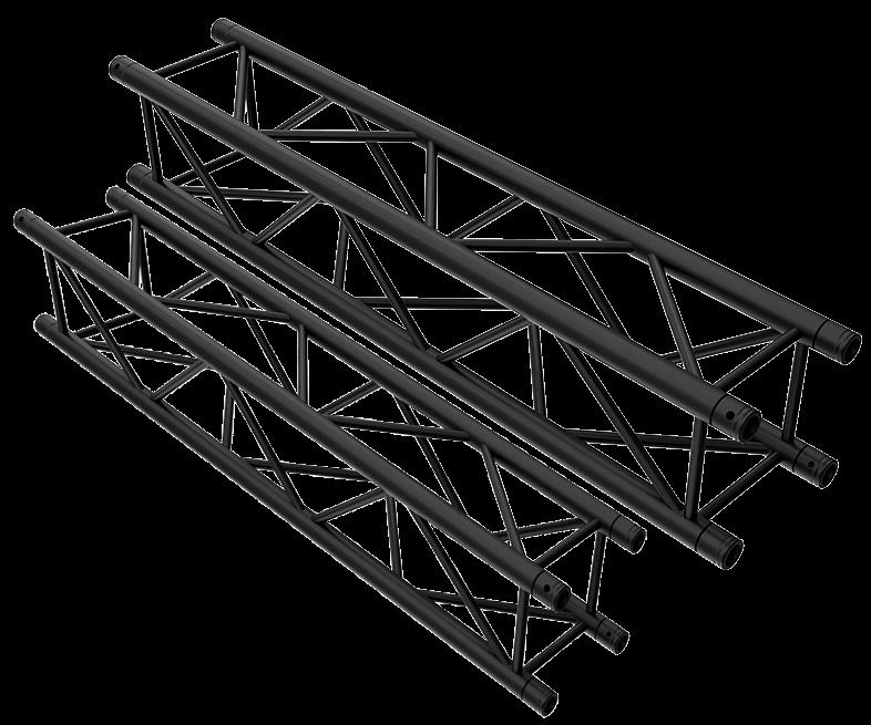 TAF Truss Aluminium   Black Truss