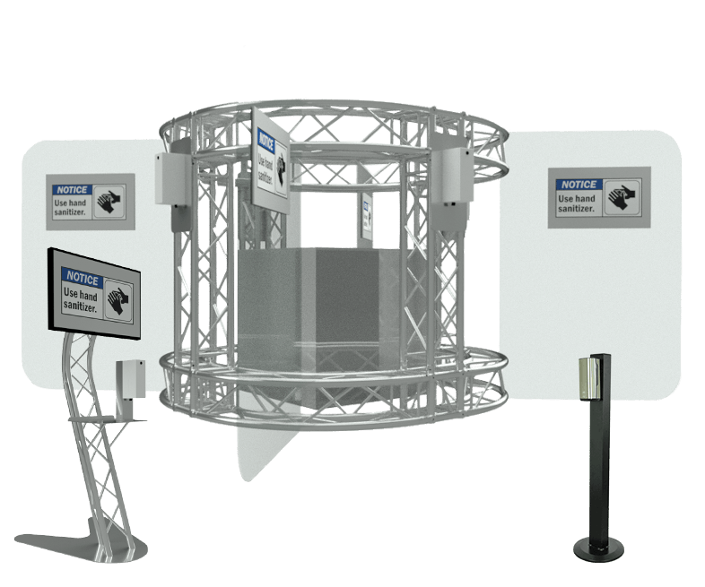 TAF Truss Aluminium | Sanitizer Stands